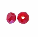 Majestic Crystal� Ruby AB 3x4mm 32-Facet Crystal  Rondelle Beads (50PK)