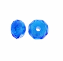 Majestic Crystal� Sapphire AB 3x4mm 32-Facet Crystal Rondelle Beads (50PK)