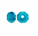 Majestic Crystal� Teal AB 3x4mm 32-Facet Crystal Rondelle Beads (50PK)