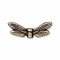 Brass Oxide Dragonfly Wings Bead