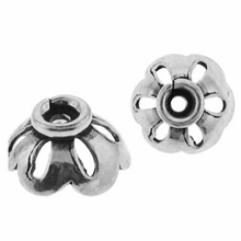 8mm Bali Style Sterling Silver Bead Cap (1PC)