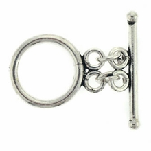 Sterling Silver Double Ring Toggle Set