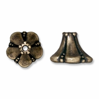 Brass Oxide Large Bell Flower Cone