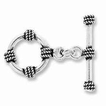 16mm Bali Rope Sterling Silver Toggle