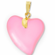 Rose Gold Pendent Heart 24mm