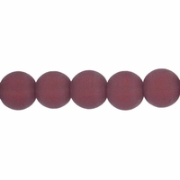 8mm Amethyst Frosted Round Glass Beads (42PK)