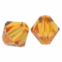 Majestic Crystal® Light ColoradoTopaz  4mm Faceted Bicone Crystal Beads (36PK)