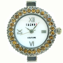 Round Lt. Colorado Topaz Austrian Crystal Watch Face