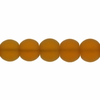 8mm Topaz Frosted Round Glass Beads (42PK)