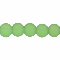 8mm Light Green Frosted Round Glass Beads (42PK)
