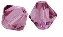 Majestic Crystal® Light Amethyst 4mm Faceted Bicone Crystal Beads (36PK)