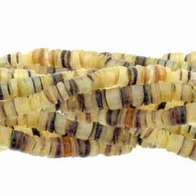"4-5mm Hammer Shell Heishe Yellow  24"" Strand"
