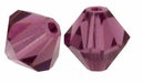 Majestic Crystal® Amethyst 4mm Faceted Bicone Crystal Beads (36PK)