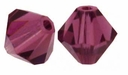 Majestic Crystal® Dark Amethyst 6mm Faceted Bicone Crystal Beads (18PK)