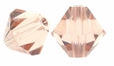 Majestic Crystal® Light Rose 6mm Faceted Bicone Crystal Beads (18PK)