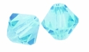 Majestic Crystal® Aquamarine 6mm Faceted Bicone Crystal Beads (18PK)