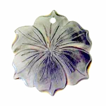40mm  Black Lip Rose Carved Shell Pendant