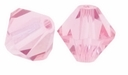 Majestic Crystal® Pink 8mm Faceted Bicone Crystal Beads (12PK)