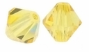 Majestic Crystal® Jonquil 8mm Faceted Bicone Crystal Beads (12PK)
