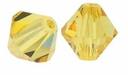 Majestic Crystal® Light Colorado Topaz 8mm Faceted Bicone Crystal Beads (12PK)