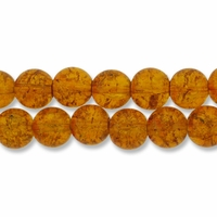 Topaz 10mm Glass Crackle Beads (20PK)