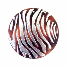 40mm Hammershell Zebra Metallic Embossed Pendant