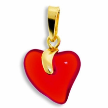 Siam Gold Pendent Heart 15mm (1PC)