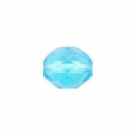 10mm Aquamarine Czech Fire Polished Round Glass Beads (25PK)