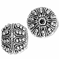 14mm Large Fancy Bali Style Round; Dots & Rope (1PC)