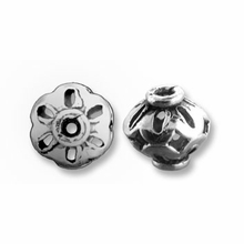Bali Style 7 x 7mm Sterling Silver Bead (1PC)