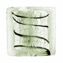 Silver Foil Glass Crystal Square Beads 15x15mm (5PK)