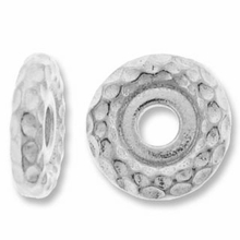 Rhodium 10mm Hammertone LH Spacer
