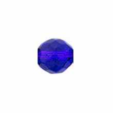 10mm Sapphire Czech Fire Polished Round Glass Beads (25PK)