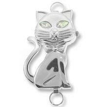 Silver Loop Cat Watch Face