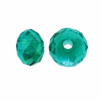 Majestic Crystal® Emerald AB 3x4mm 32-Facet Crystal  Rondelle Beads (50PK)