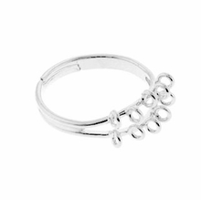 Silver Plated 17mm Adjustable Ring (1PC)