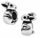 MIOVI� Silver Plated Large Hole 13mm Cute Rabbit Bead (1PC)