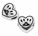 MIOVI� Silver Plated 11mm Heart with Paw Print Bead (1PC)