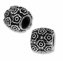 MIOVI� Silver Plated 10mm Many Flowers Drum Bead (1PC)