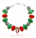 Christmas Large Hole Beaded Bracelet Design