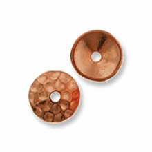 Copper Plated Hammertone 6mm Cap