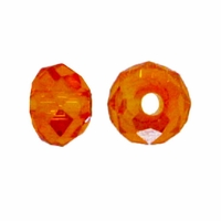 Majestic Crystal® Light  Topaz AB 3x4mm 32-Facet Crystal  Rondelle Beads (50PK)