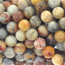 Crazy Lace Agate 6mm Round Beads 16 inch Strand
