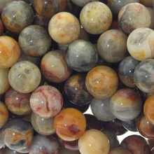 Crazy Lace Agate 8mm Round Beads 16 inch Strand