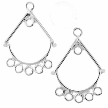 5 Ring Chandelier Earring Drop (1PR)