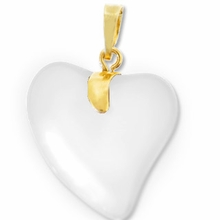 Crystal Gold Pendent Heart 24mm (1PC)