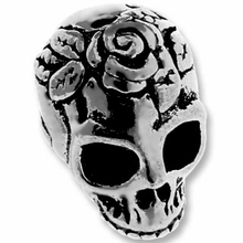 Antique Silver Skull Bead