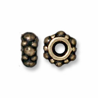 Small Brass Oxide Turkish Spacer (10PK)