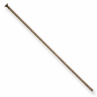 "2"" Head Pin 21G Brass Oxide  (10PK)"