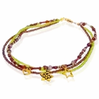 Golden Sunset Anklet Jewelry Design Kit